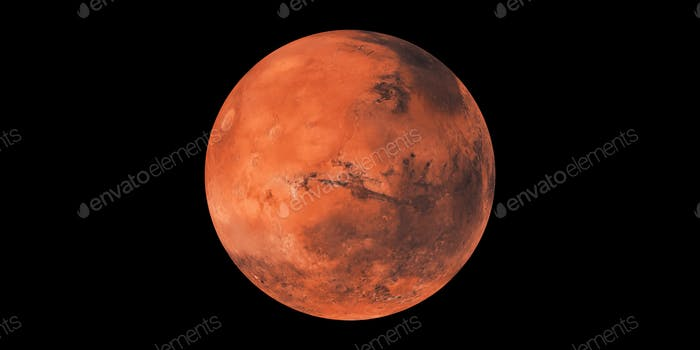Mars roter Planet im Weltraum