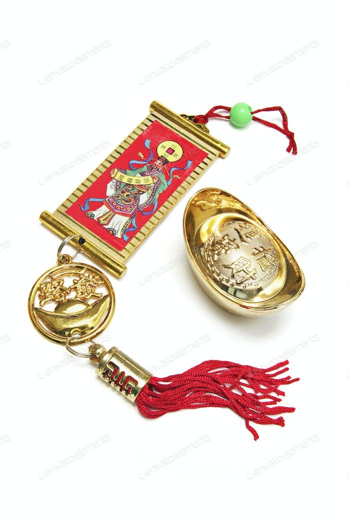 Chinese Trinket and Gold Ingot