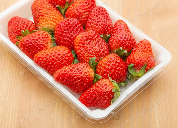 Sweet strawberry in package