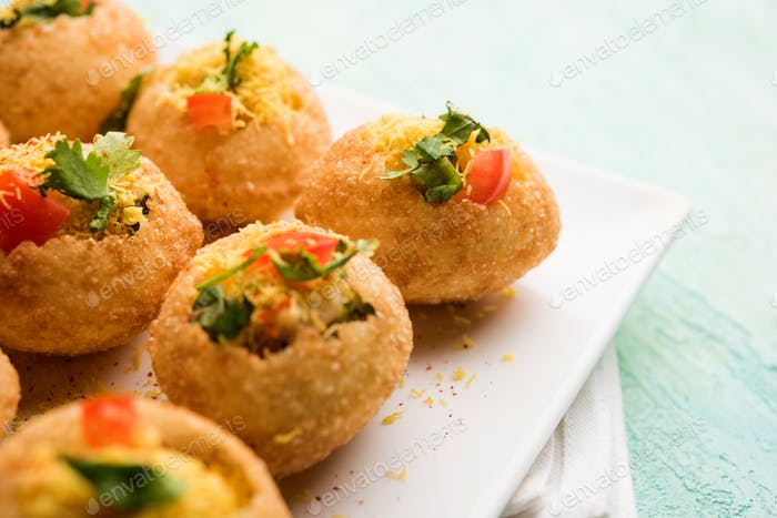 Sev puri is an indian Snack item
