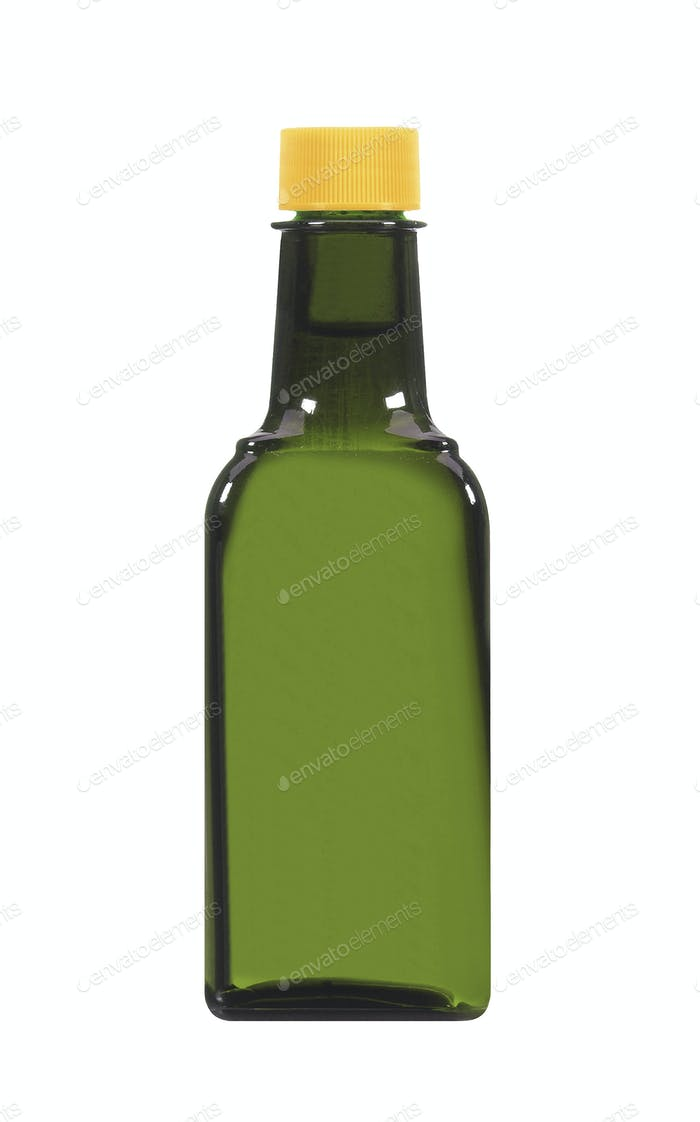 soy sauce bottle isolated on white background