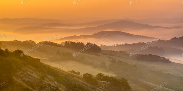 Rolling hill Landscape in Tuscany