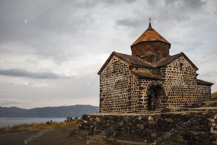 Monastery of Sevanavank in Lake Sevan. Armenia.