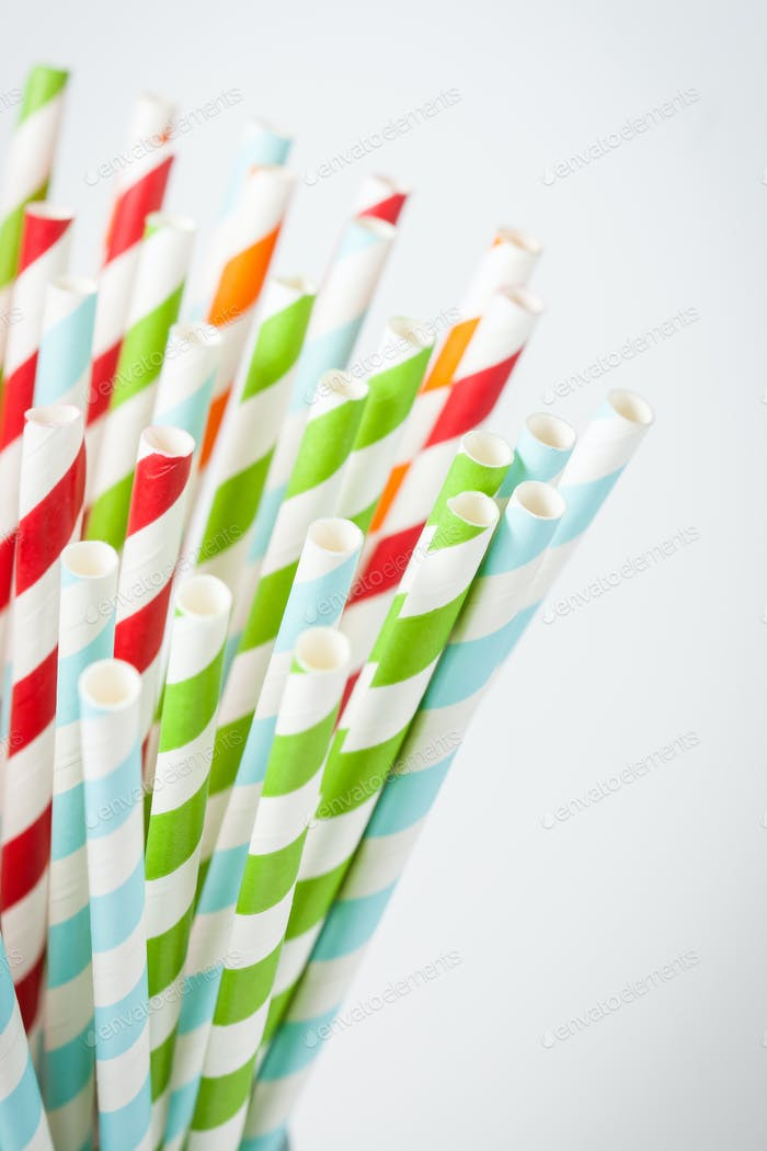 Striped cocktail stick