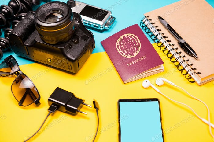 Summer photographer kit who loves to travel