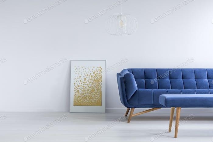 Goldene und blaue Ergänzungen