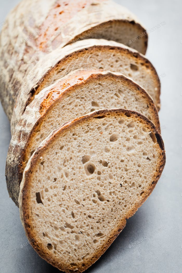 Fresh rustic style bread with pastry.