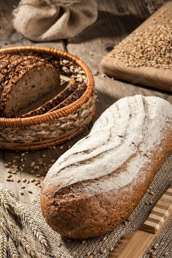 Loaves of rye bread