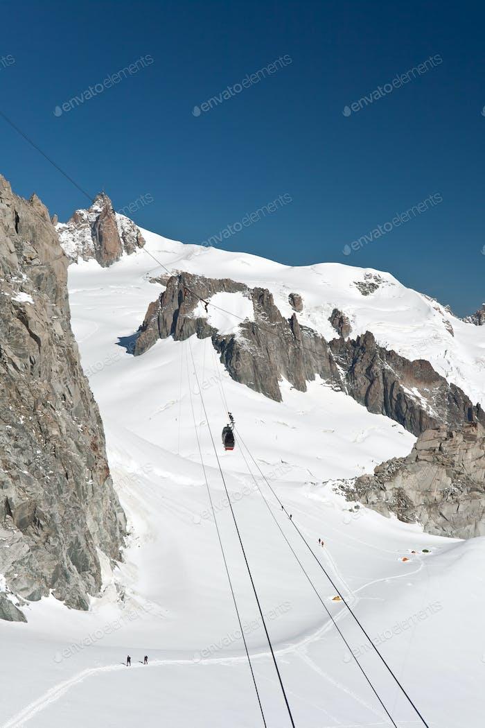 Mont Blanc - Aiguille du Miidi and mer de glace
