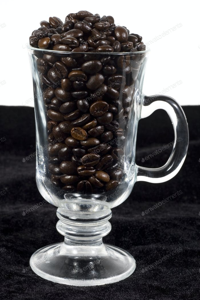coffee in a glass