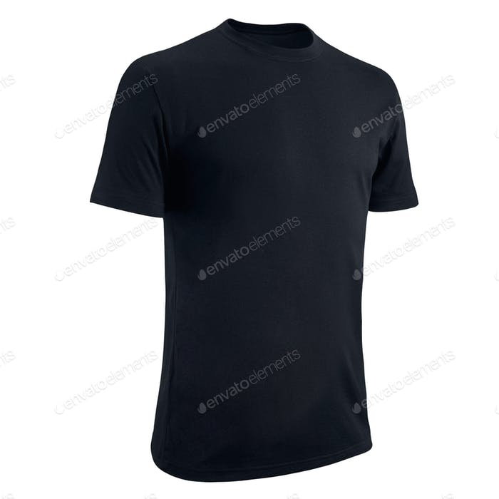 Black Tshirt on a white background.