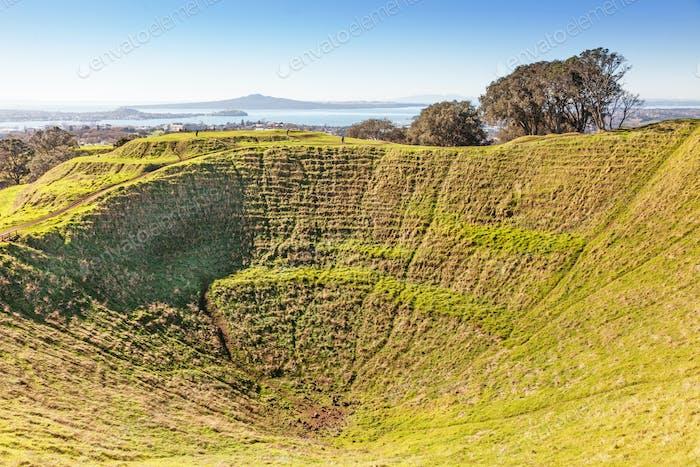 Vulkankrater am Mount Eden, Auckland
