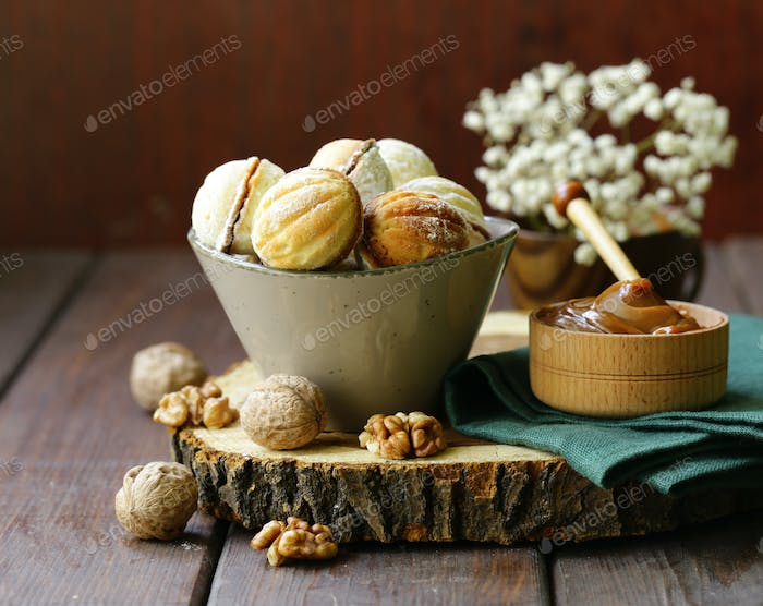 Cookies in the Form of Nuts