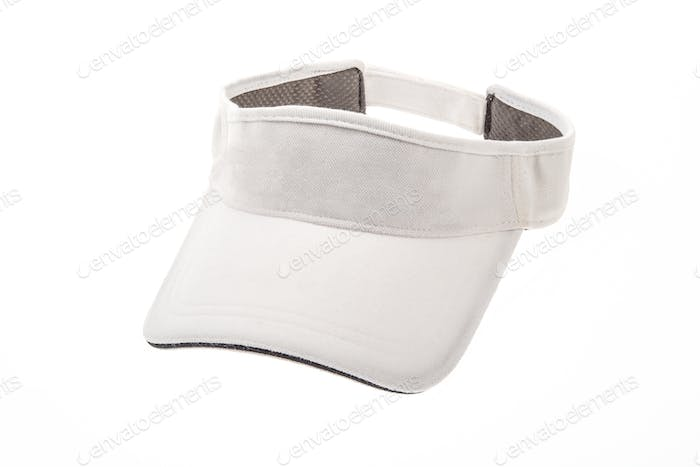 Golf visor on white background