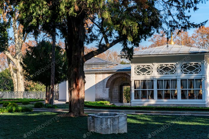 Inner courtyard of Topkapi Palace, the major residences of the Ottoman sultans