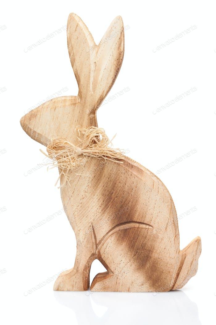Osterferien Hase und Eier auf weißem Hintergrund