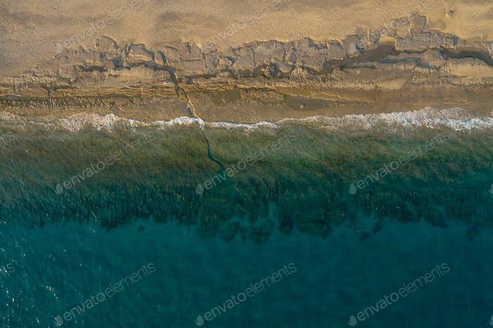 Birds Eye view of a shore break