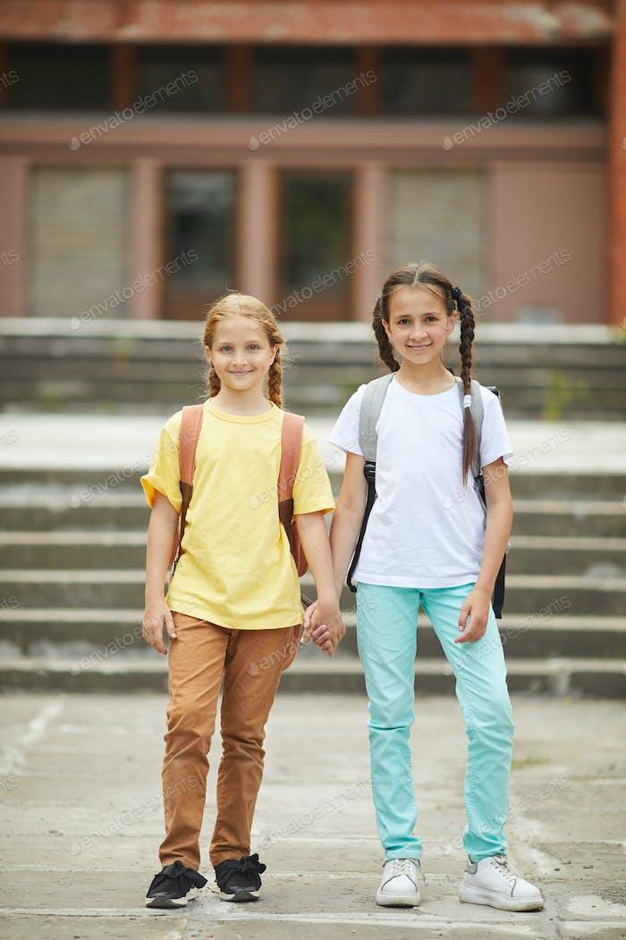 Two Cute Schoolgirls