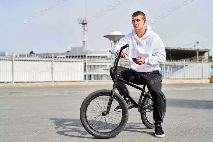 Young Man on BMX Bike
