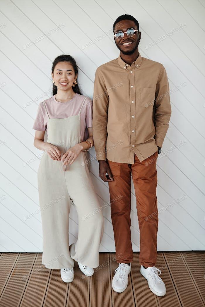 Minimal Portrait of Mixed Race Couple