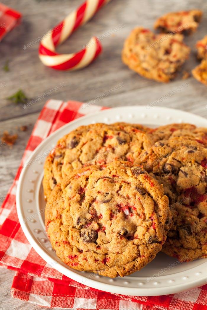 Homemade Chocolate Peppermint Cookies