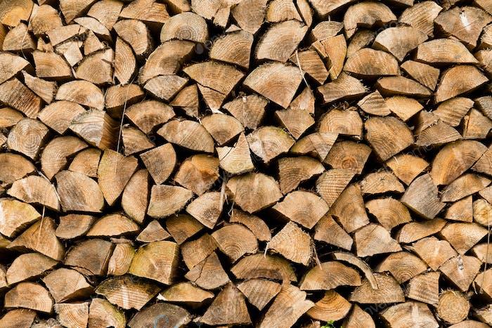 Round timber texture