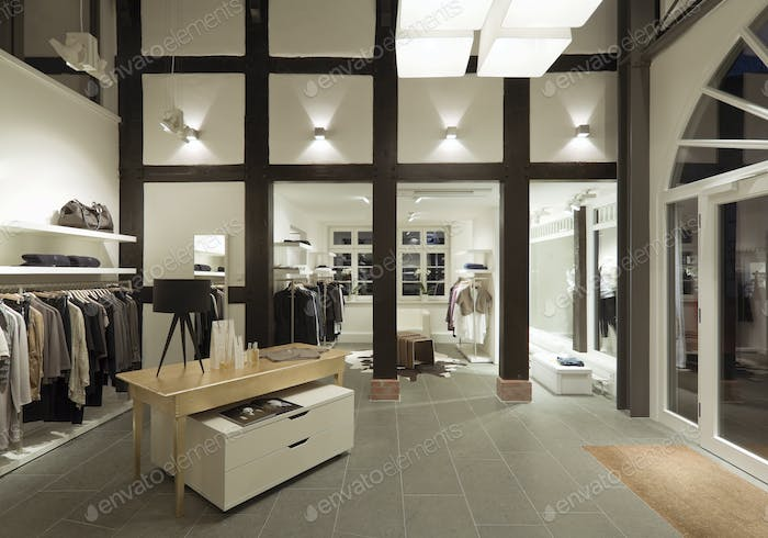 53879,Clothes for sale in modern store