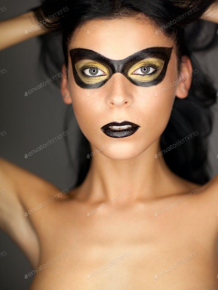beautiful woman with mask