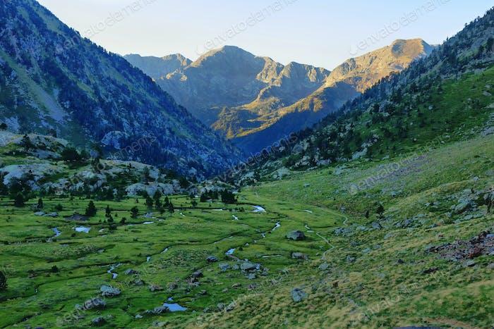 Towards Pica d'Estats, top of Catalonia, Pyrenees