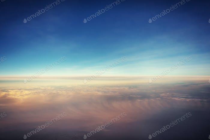 summer landscape beautiful cumulus clouds