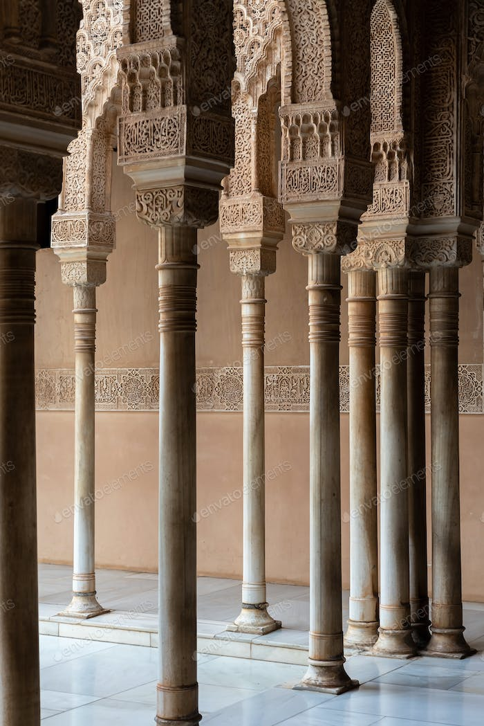 Moorish arches in The Alhambra