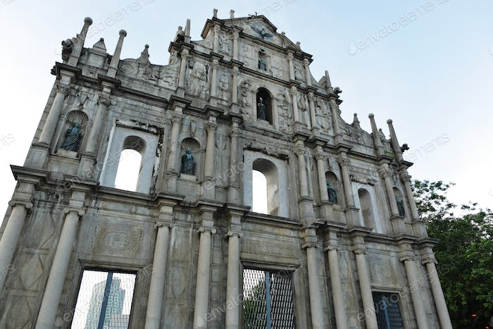 ruins of St. Paul's Cathedral in Macao