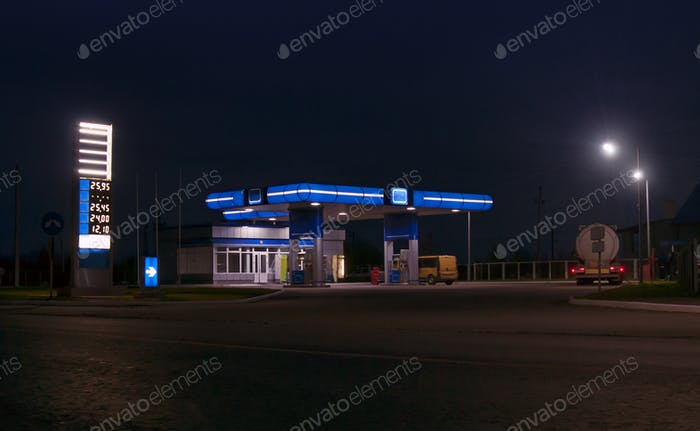 gas station and convenience