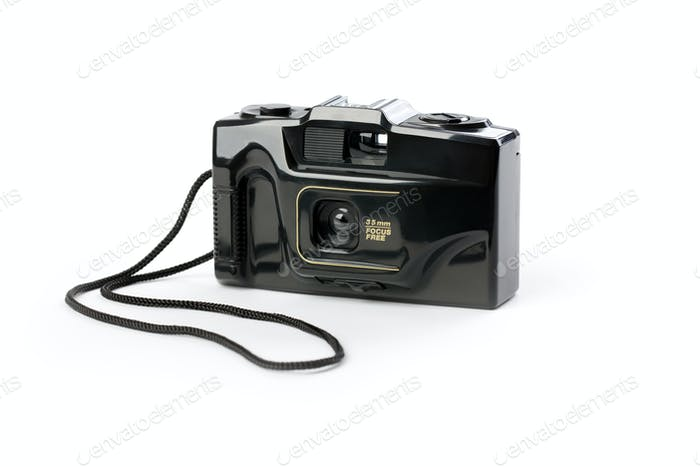 retro analogue compact camera