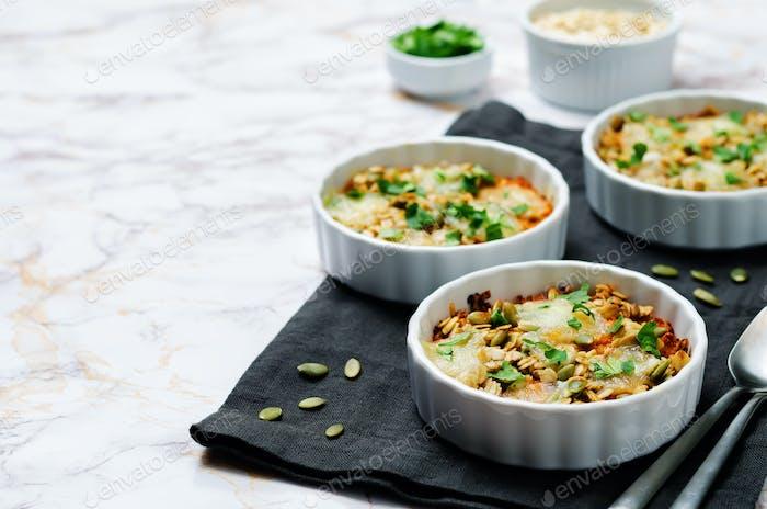 cheese pepita oats sweet potato casserole