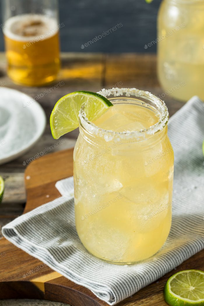 Refreshing Alcoholic Beer Margarita Beerita