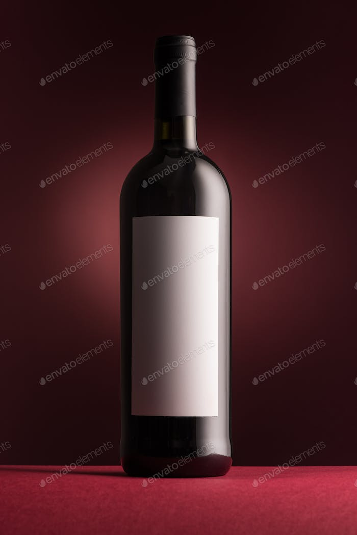 Excellent red wine bottle