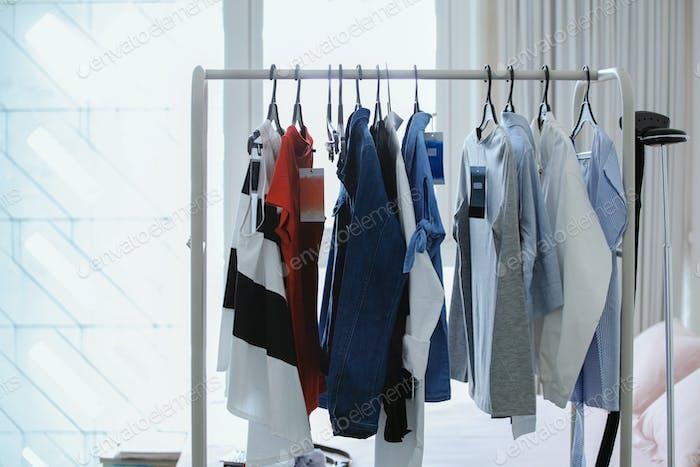 Women clothes on a hanger.