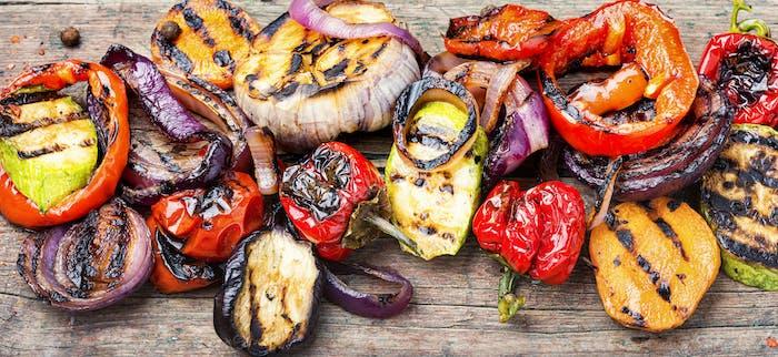 Gemüsesorten vom Grill
