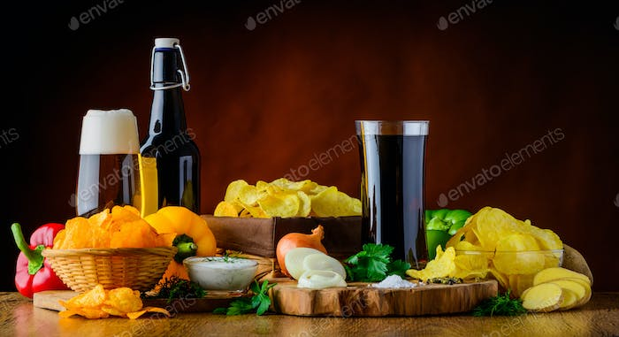 Beer, Cola and Potato-Chips