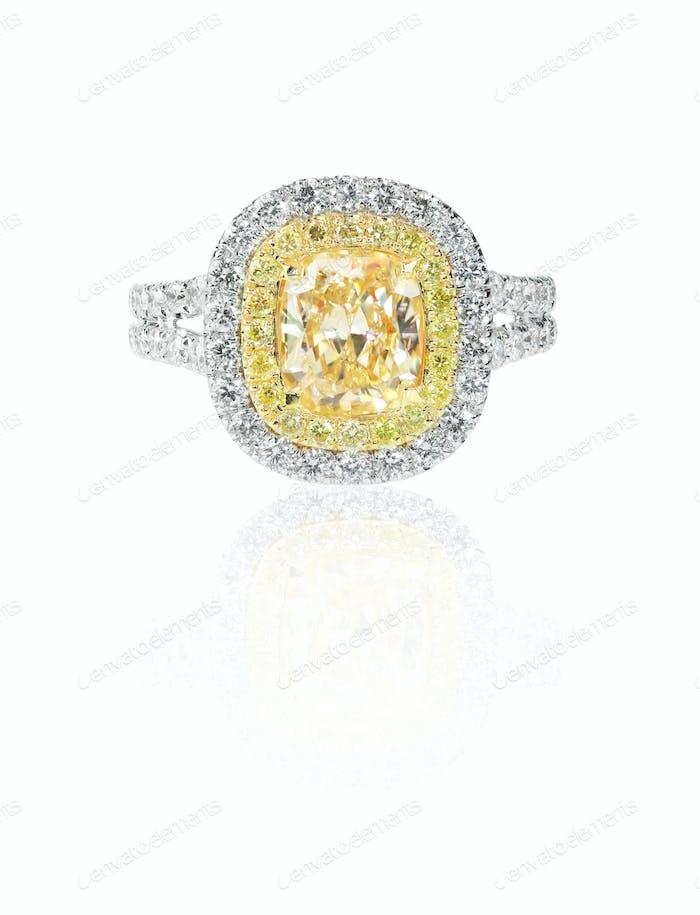 Wunderschöner Diamant Ehering Verlobungsring