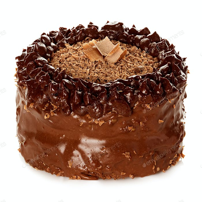 Cake chocolate isolated