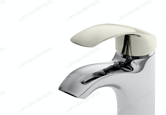 water-supply faucet mixer for water isolated on white background