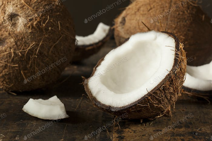 Fresh Organic Brown Coconut