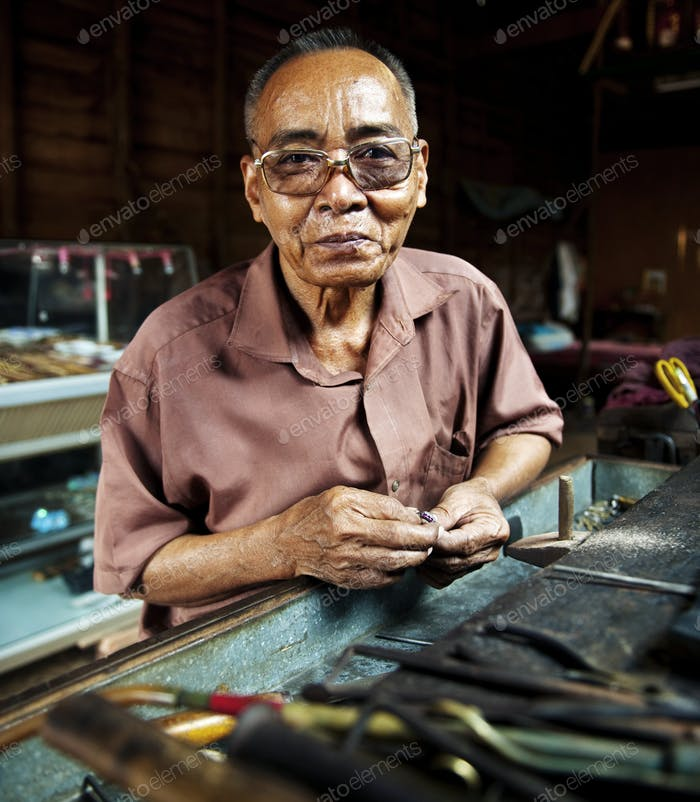 Portrait of a Cambodian man