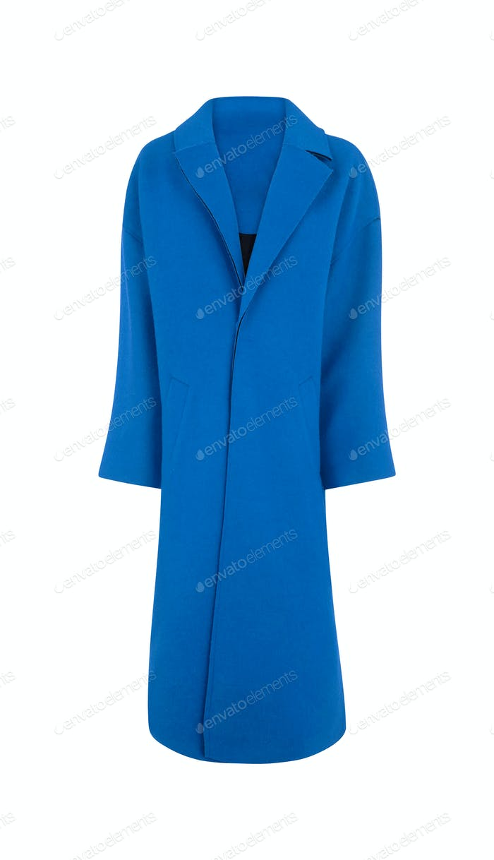 Violet elegant woman autumn coat isolated white