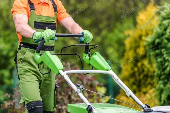 Grass Field Mowing