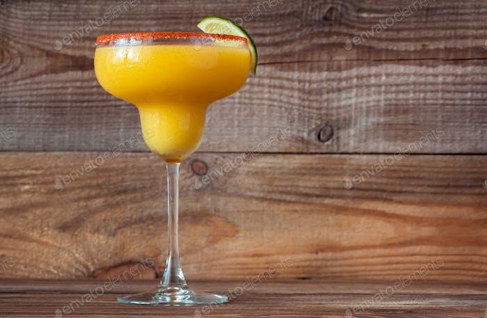 Frozen Mango Margarita cocktail