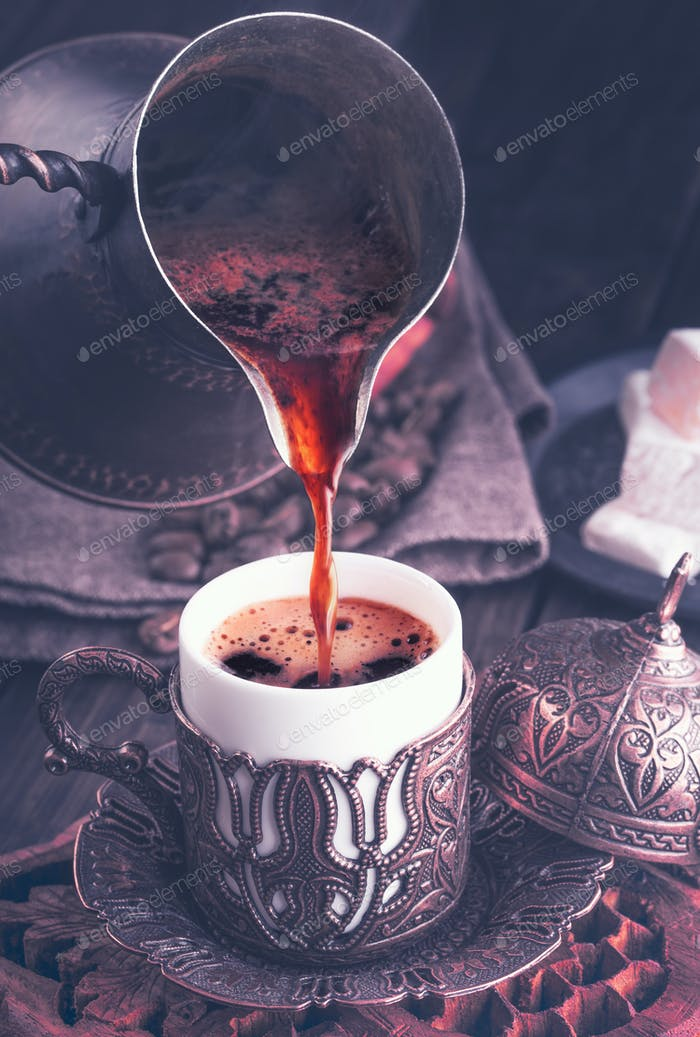 Turkish coffee dark