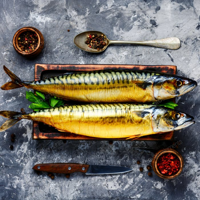 Smoked fish mackerel